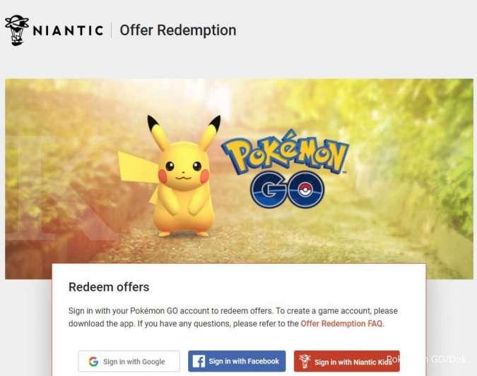 Cara klaim promo code Pokemon GO
