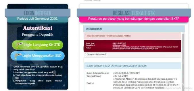 Segera login di info.gtk.kemdikbud.go.id untuk cek penerima BSU Kemendikbud.