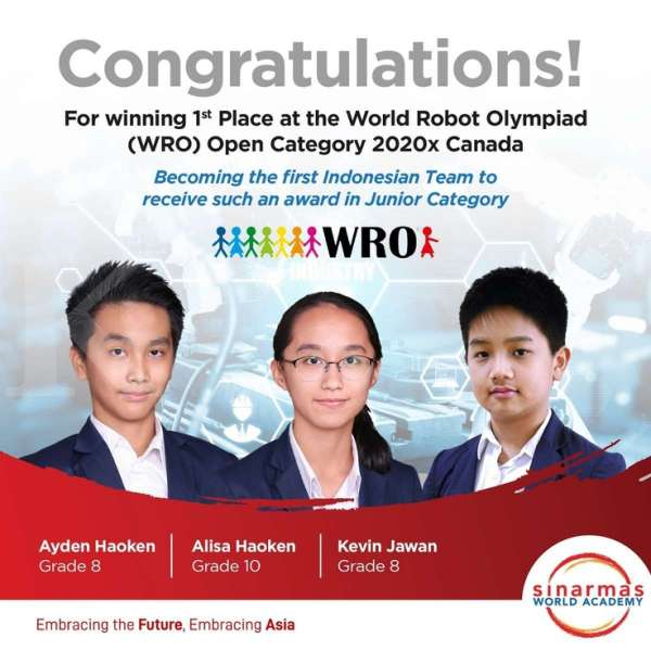 murid SWA juara WRO 2020