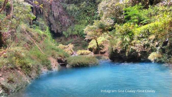 Goa Cilalay Pangandaran, bisa body rafting di aliran air berkelir biru jernih