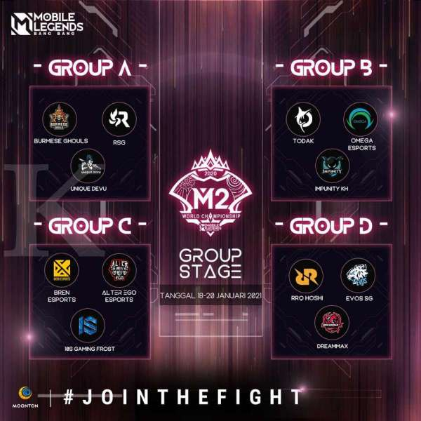 Pembagian grup M2 Mobile Legends