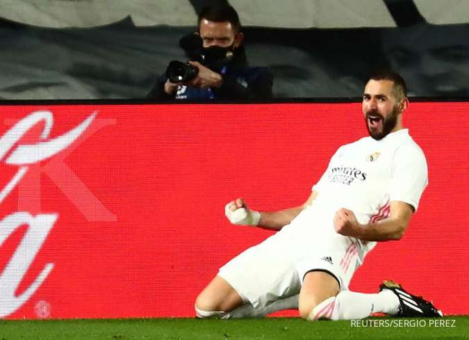Karim Benzema jelang laga Elche vs Real Madrid di La Liga Spanyol