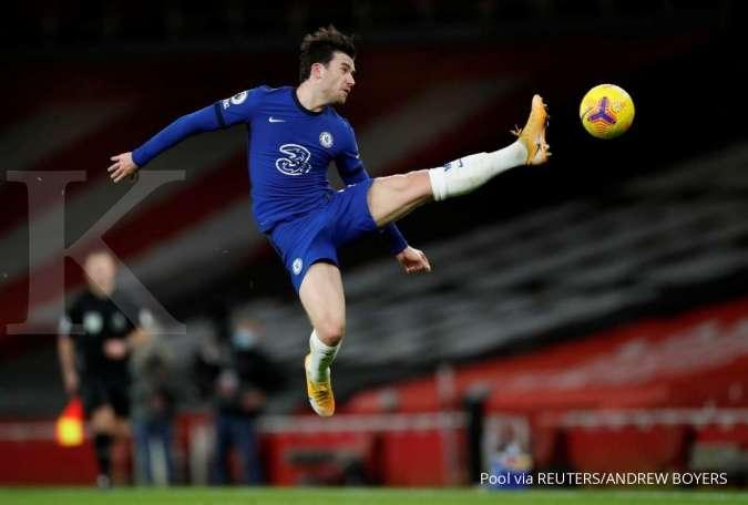 Ben Chilwell menjelang laga Chelsea vs Aston Villa di Liga Inggris