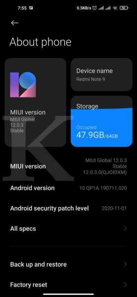 Versi Android di HP Xiaomi