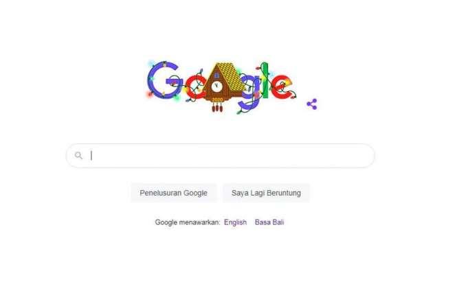 Google Doodle malam tahun baru