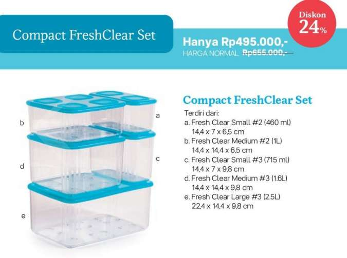 Promo Tupperware Januari 2021 ada diskon Square Keeper, Jolly Keeper, Universal Jar