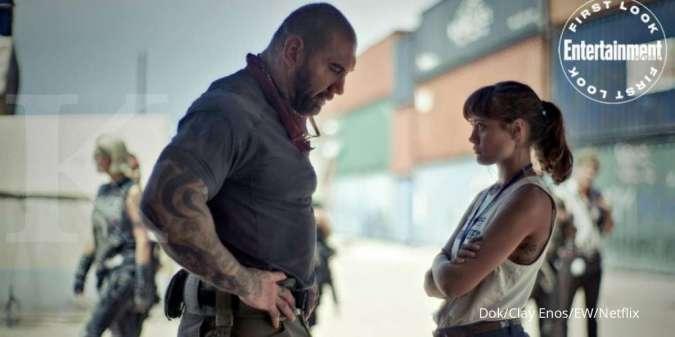 Dave Bautista dalam foto adegan Army of the Dead yang akan tayang di Netflix.