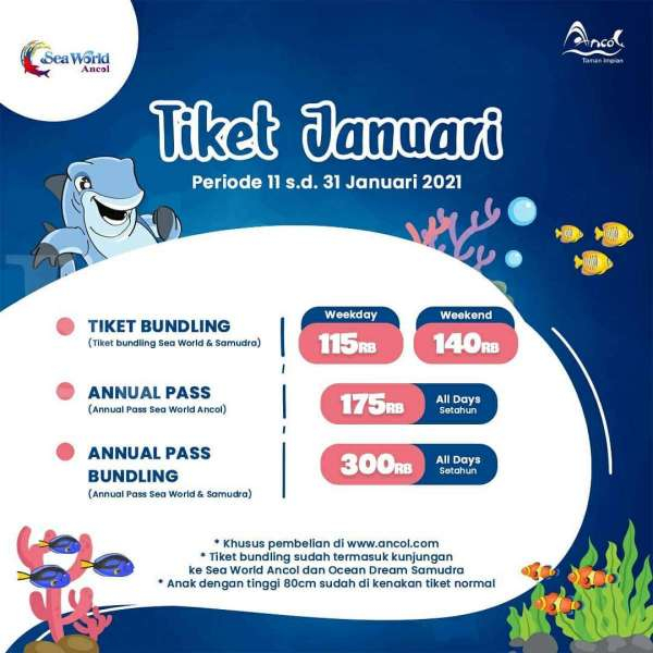 Tiket Masuk Sea World Ancol 11-31 Januari 2021