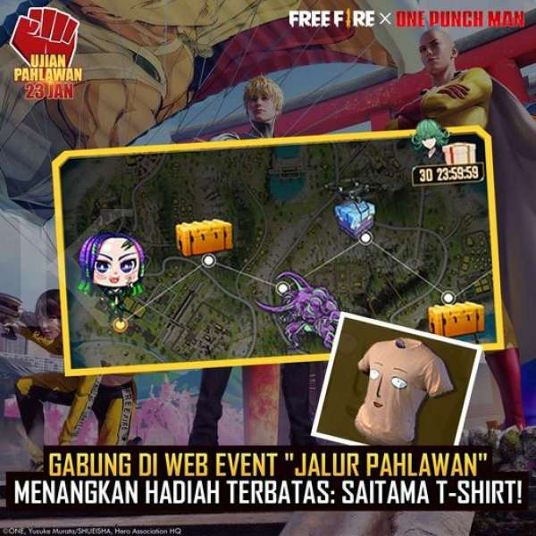 Event kolaborasi FF X One-Punch Man