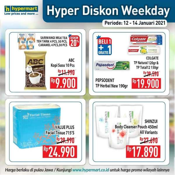 Promo Hypermart weekday 12-14 Januari 2021