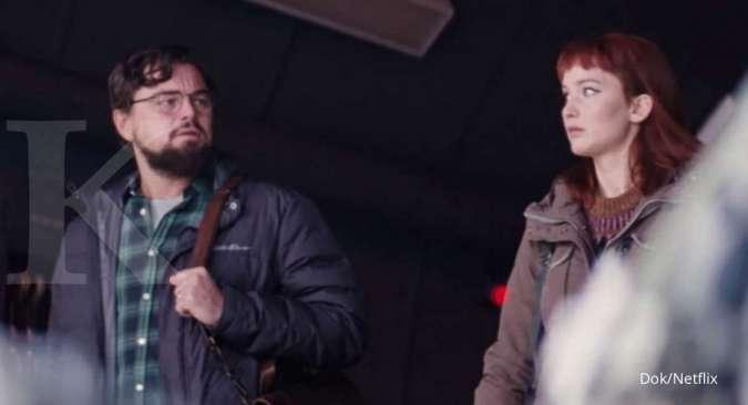 Don't Look Up, film Netflix terbaru yan dibintangi Leonardo DiCaprio dan Jennifer Lawrence.
