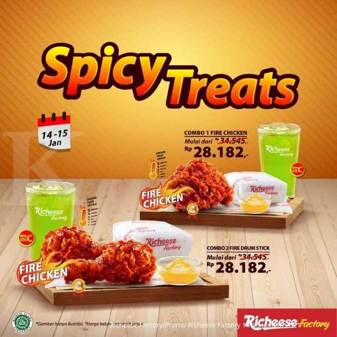 Promo Richeese Factory 14-15 Januari 2021, Spicy Treats mulai Rp 28.182!