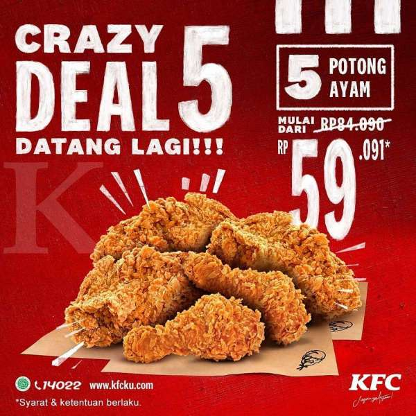 Promo KFC periode 19-21 Januari 2021
