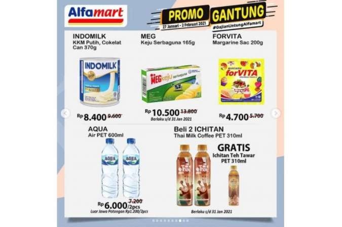 Promo JSM <a href='https://solo.tribunnews.com/tag/alfamart' title='Alfamart'>Alfamart</a> Promo 27 Januari 2 Februari 2021