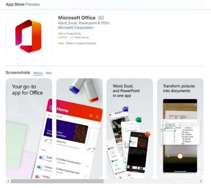 Microsoft Office di iPad