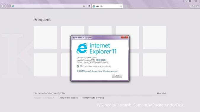 ILUSTRASI: Internet Explorer 11