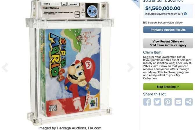 Jadi Game Termahal Didunia, Super Mario 64 Terjual Rp 22,6 Miliar!