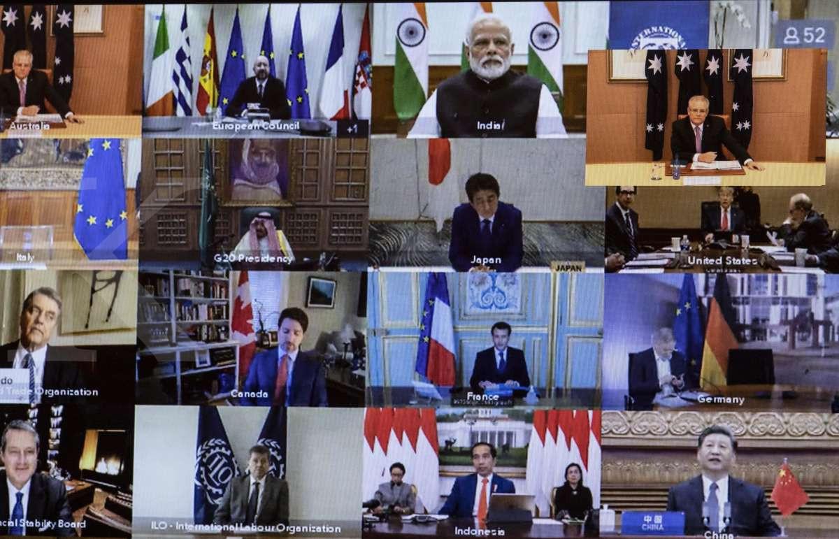 Saat pemimpin dunia melakukan KTT luar biasa secara virtual