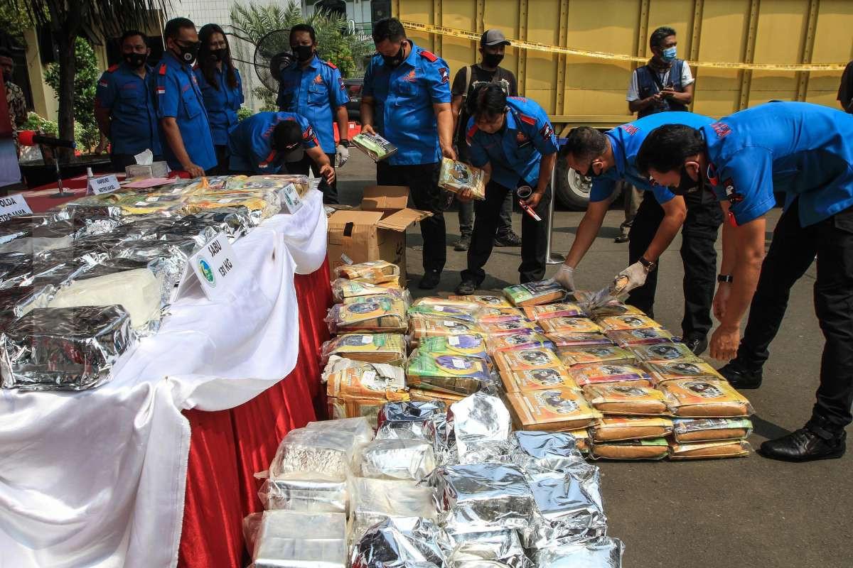 Pengungkapan kasus narkoba jaringan lintas Sumatera-Jawa
