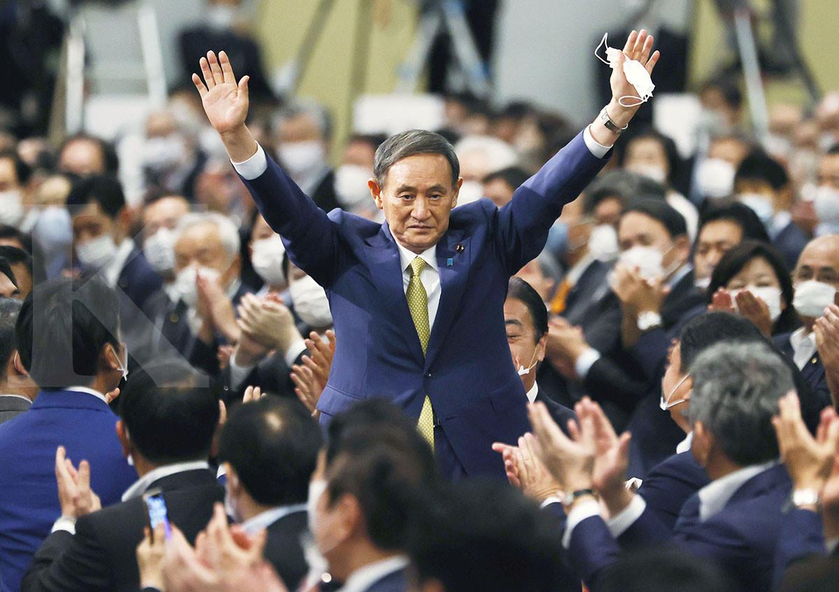 Saat-saat Yoshihide Suga menangkan ketua partai, bakal jadi PM baru Jepang
